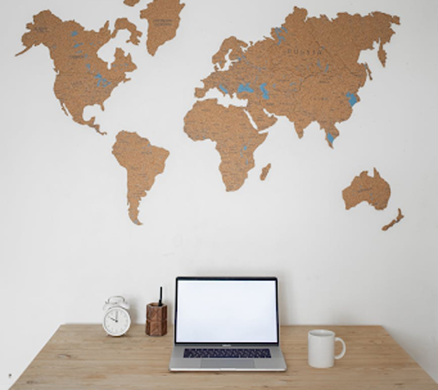 """Youtube didn't just stop in the US but also hopped worldwide to deliver the best quality videos for entertainment. (Credits: """"A World Map on the Wall,"""" by Monstera, licensed under Pexels.)"""