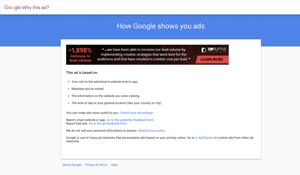 """This is an image of """"How Google shows you ads""""."""