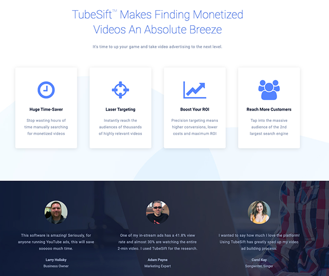 TubeSift's software connects marketers with the top channels and videos on YouTube for connecting with their audience.