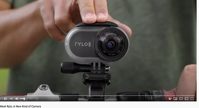 Rylo's camera ad shows their product in action.