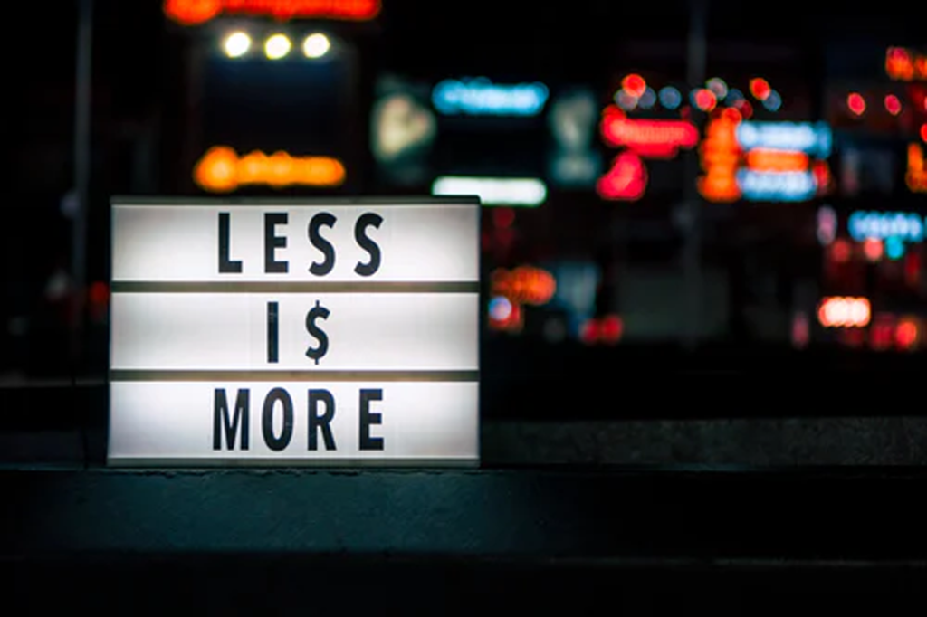 Less is more for brands seeking long-term, authentic relationships with their customers. (Prateek Katyal, Unsplash License, Unsplash)
