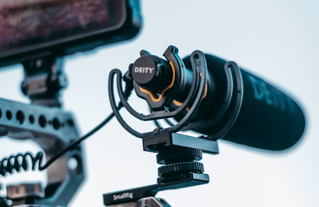 A shotgun microphone is good at picking up audio from a moving subject or from several subjects speaking at once.