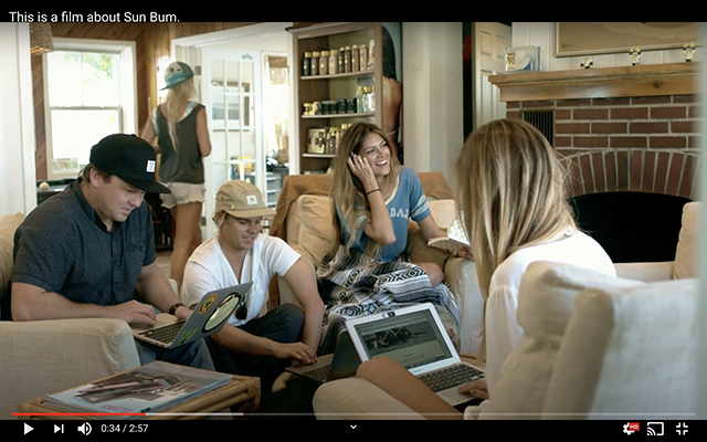 In their film about Sun Bum, they show their employees happy in a laid back work environment.
