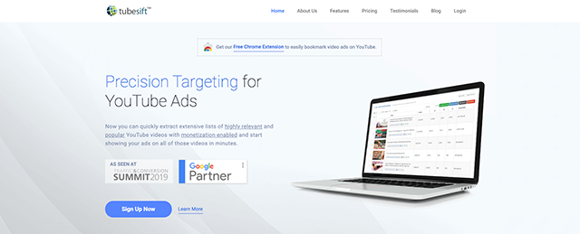 TubeSift is the software behind precision targeting for YouTube ads that connects brands with their ideal customers.