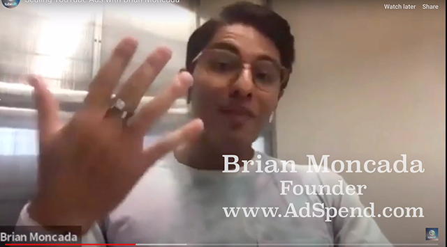 Brian Moncada, founder of AdSpend.com, lets us in on his agency's ad strategies that they use for clients on YouTube.